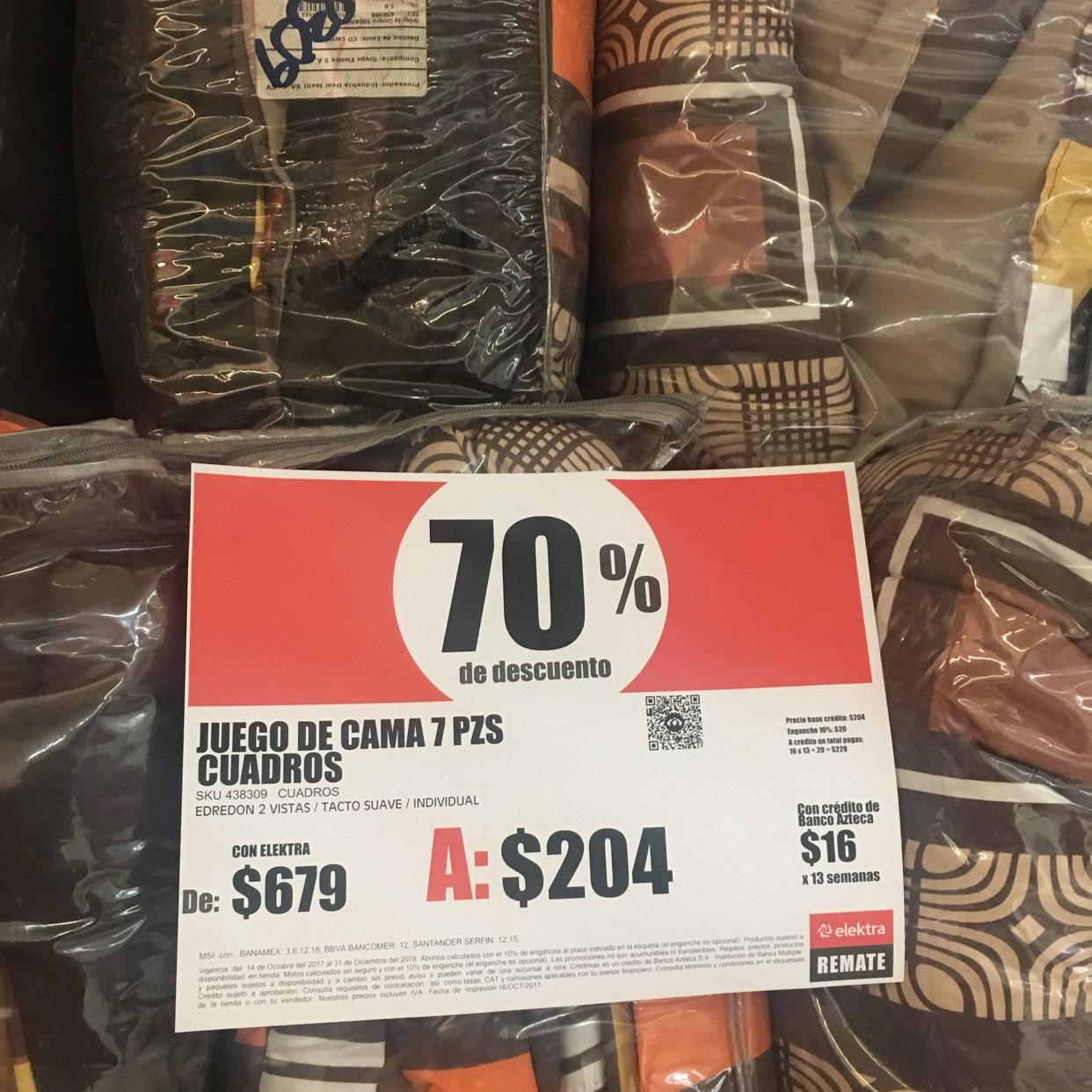 Elektra Tienda de Remates Cuautitlán Mexico: Juego de cama (edredón y más)