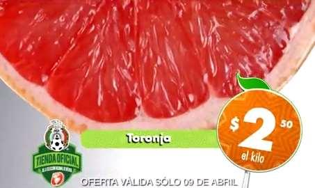Miércoles de plaza en La Comer abril 9: toronja $2.50 Kg y más