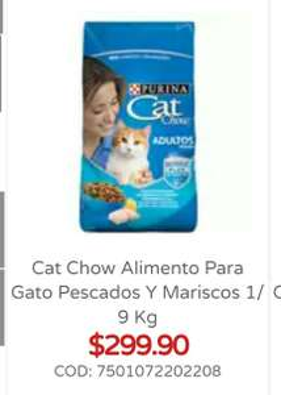 City Club: Cat Chow Alimento para gato Pescados y mariscos 9 KG