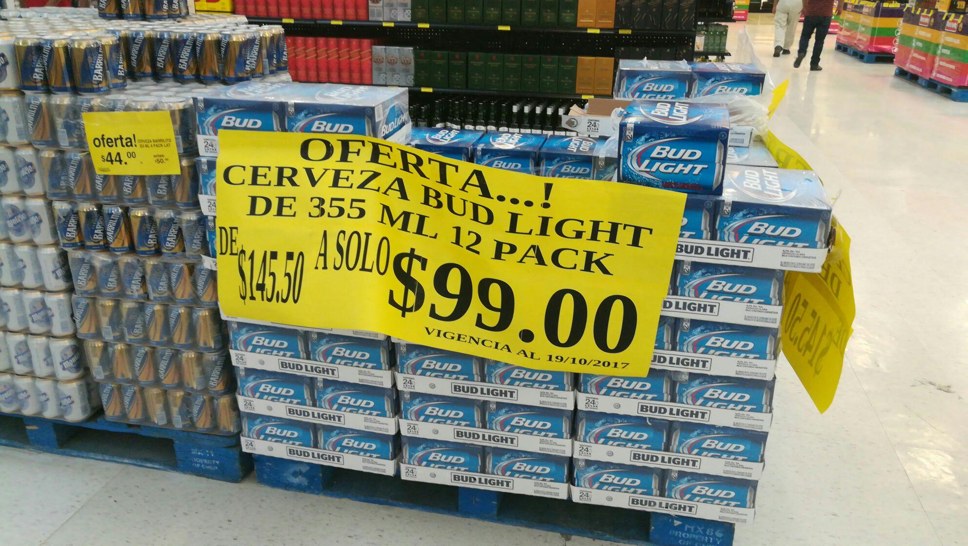 Soriana: Doce pack Bud Light lata a $99