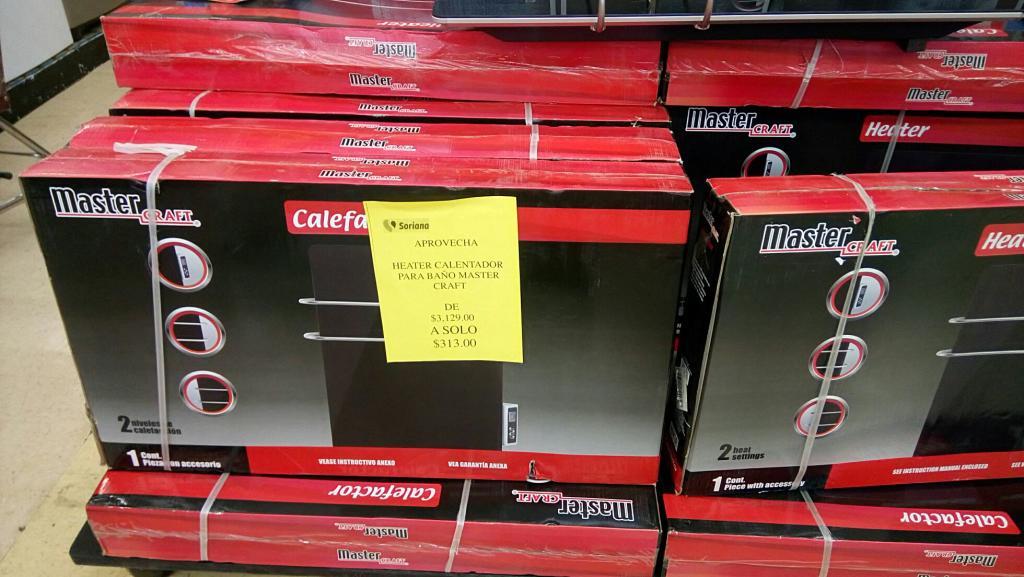 Soriana Universidad Mty: Calefactor a $313