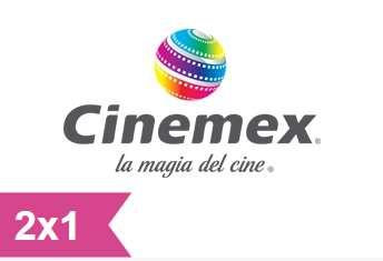 Cinemex: cupón descargable de 2x1 válido toda la semana
