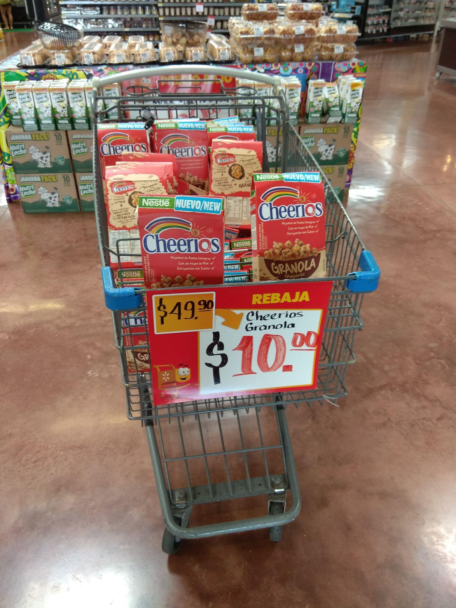 Walmart Marina Mazatlán: Cereal Cheerios de 49.90 a 10 pesos
