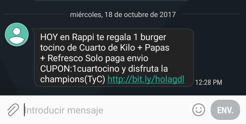 Rappi Guadalajara: Hamburguesas gratis (solo primeros usuarios)