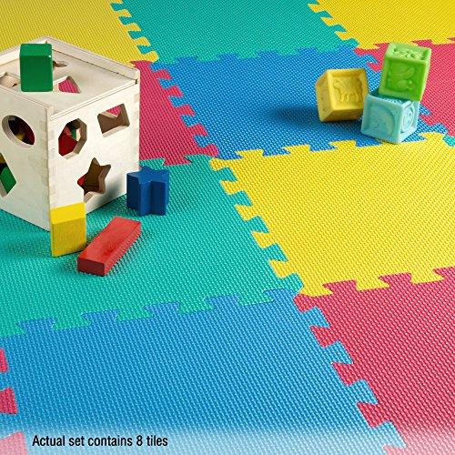 Amazon: TG Tapete multicolor de espuma EVA de 8 piezas
