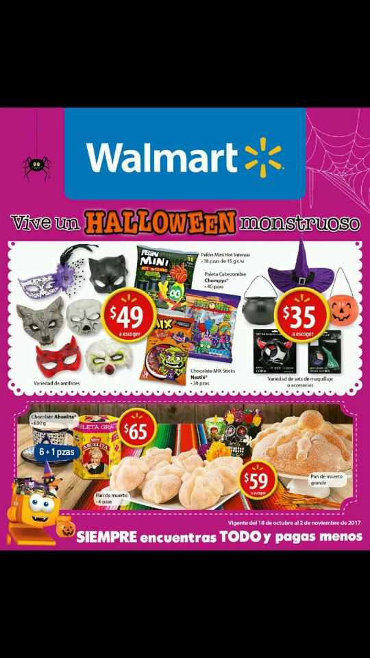 Walmart: folleto del 18 de Octubre al 02 de Noviembre