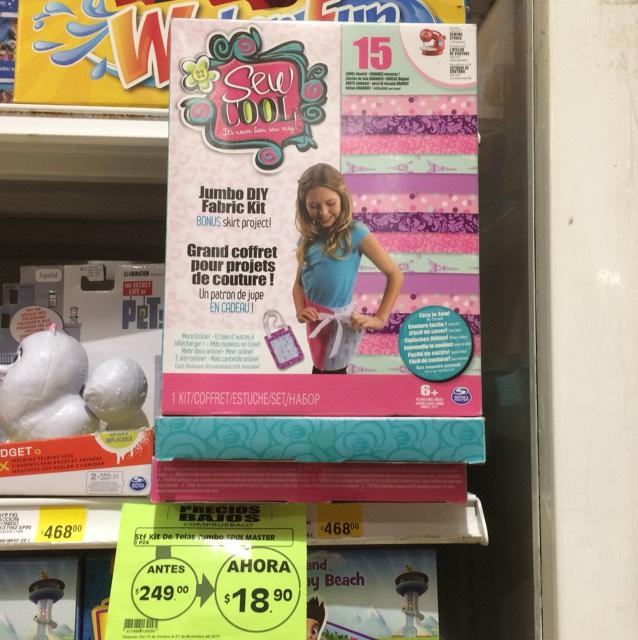 Mega Comercial Mexicana Suc. Atizapán (Pedregal) Kit De Telas Jumbo, juguete para niña.