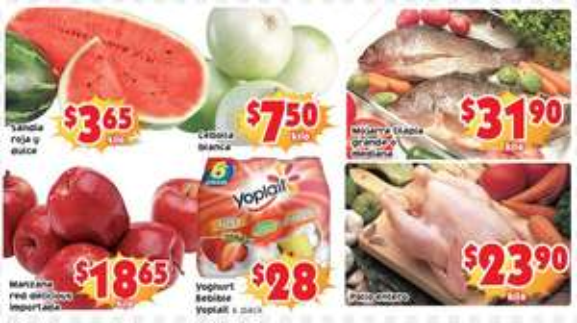 Ofertas de frutas y verduras en Soriana 8 y 9 de abril