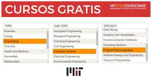 Massachusetts Institute of Technology: Cursos del MIT GRATIS