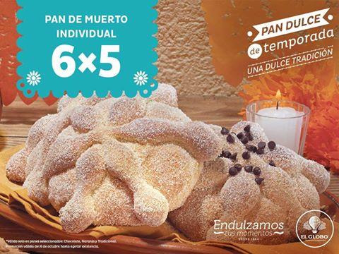 El Globo: Pan de muerto individual 6x5