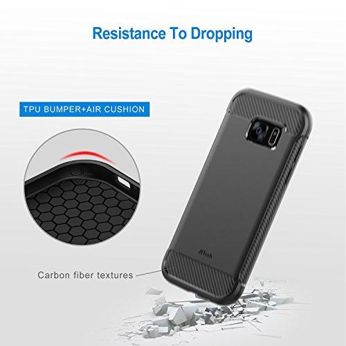 Amazon: Funda Galaxy S7, JETech súper Funda protectora con Shock- Absorción y Diseño de fibra de carbon para Samsu