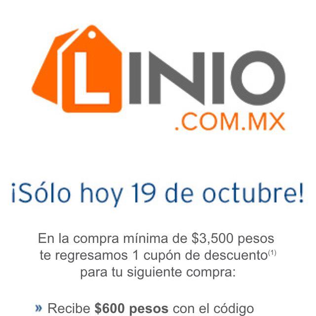 Linio: cashback de hasta $600 en compras mínimas de $3,500 con CitiBanamex