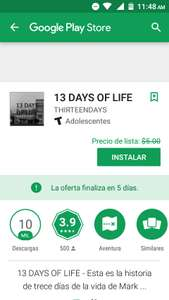 Google Play: 13 DAYS OF LIFE