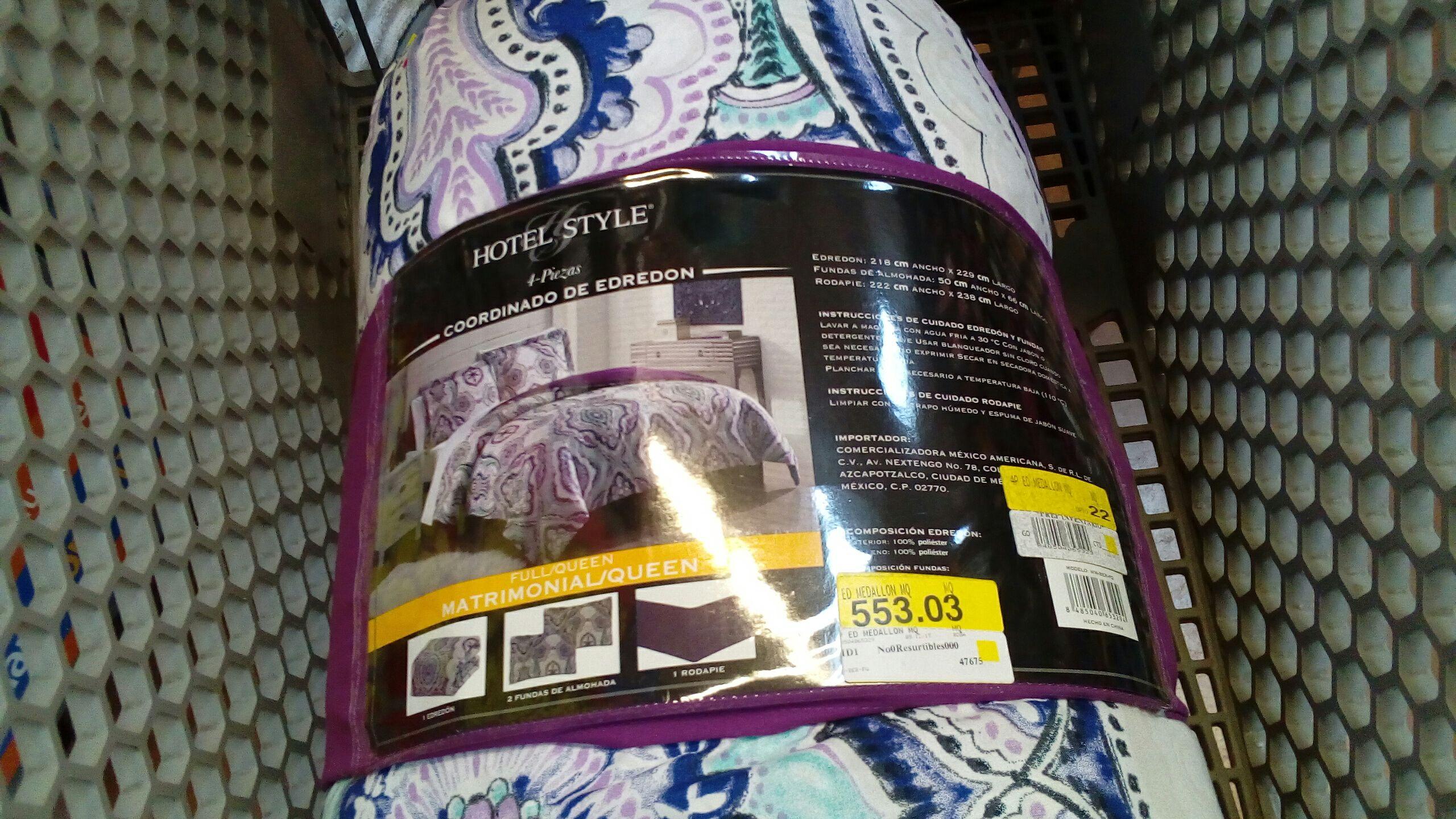 Walmart: Edredón 4 piezas
