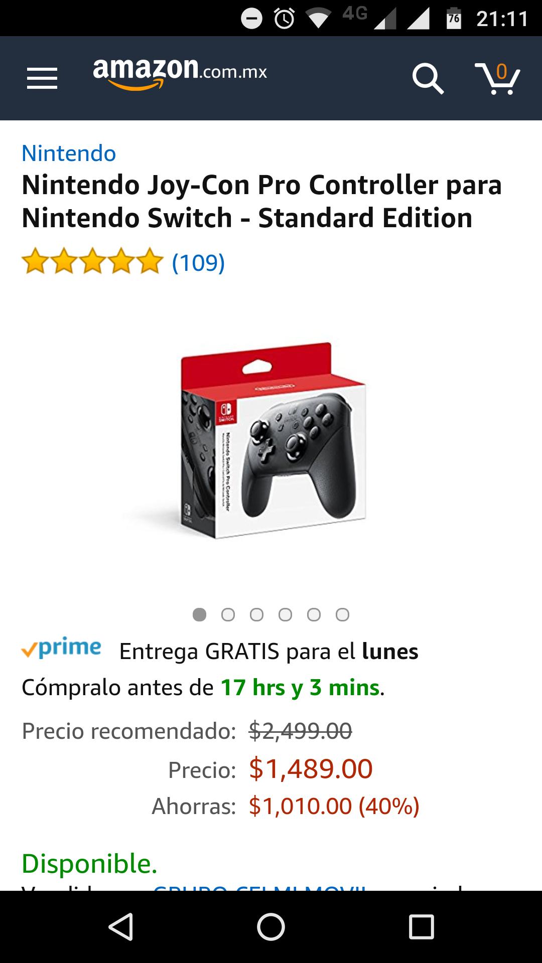 Amazon: Nintendo Joy-Con Pro Controller