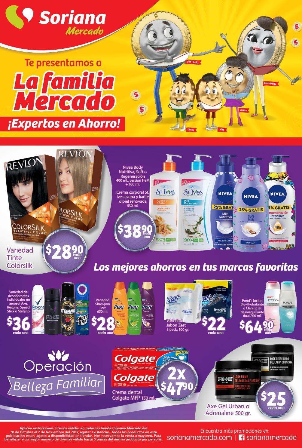Soriana Mercado y Express: Folleto vigente del 20 de octubre al 2 de noviembre (2 x 1 1/2 en llantas y más)