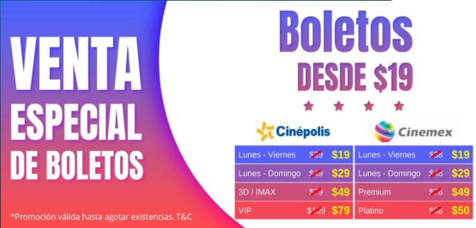 UnDosTres: boletos para cine desde $19 (Cinépolis y Cinemex)