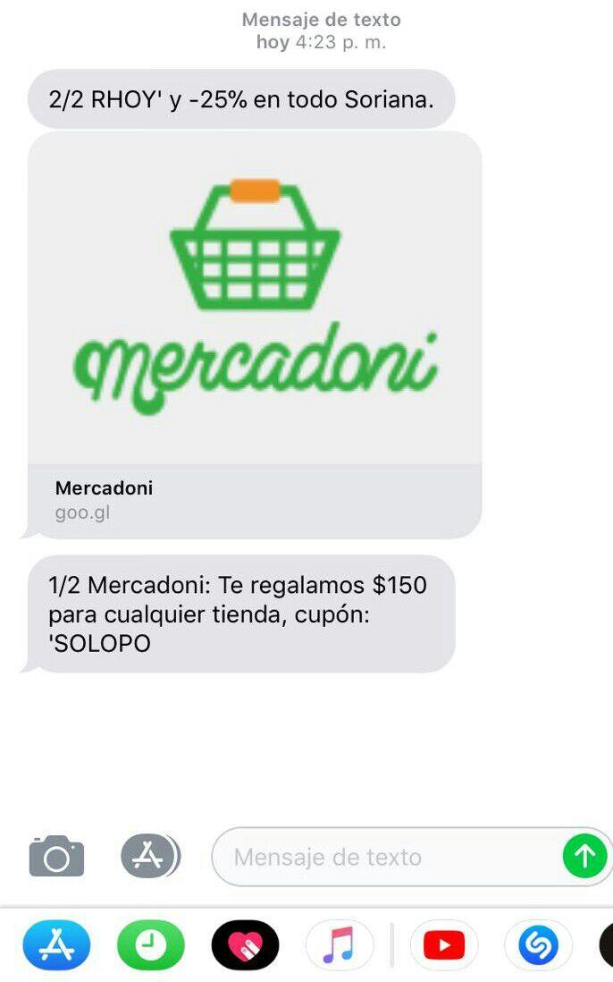 Mercadoni: Cupón 150 pesos
