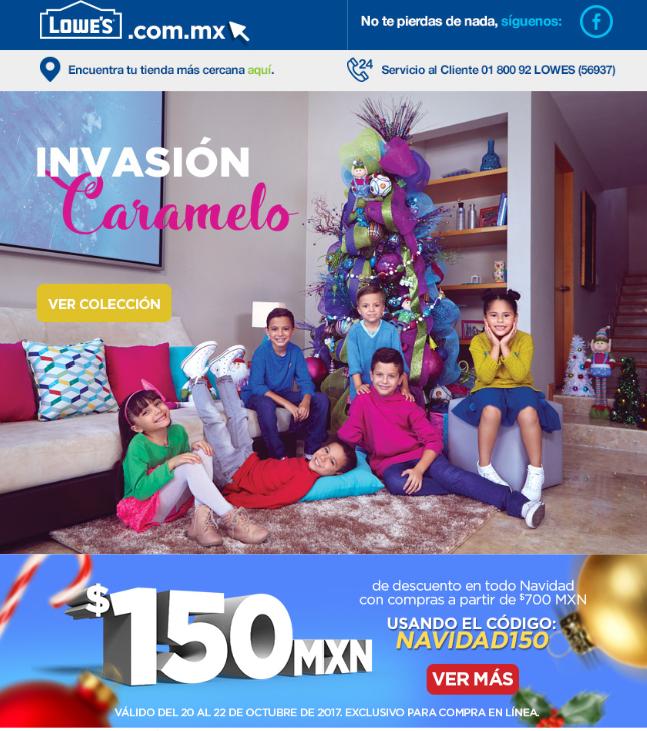 Lowes: cupon de $150 en artículos navideños