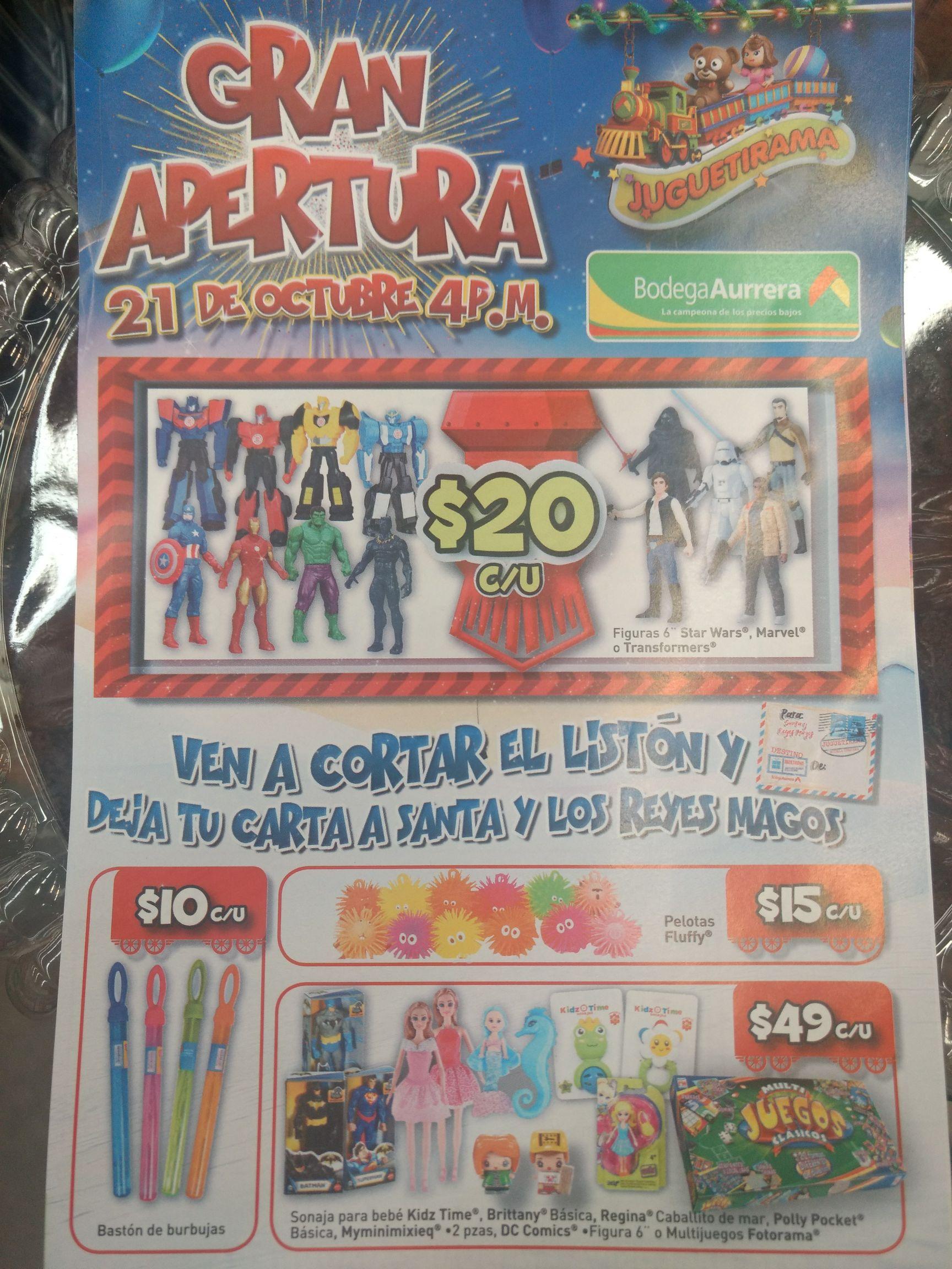 Bodega Aurrerá: Juguetirama, Juguetes desde $15