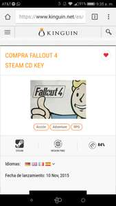 Kinguin: FALLOUT 4 (STEAM KEY)
