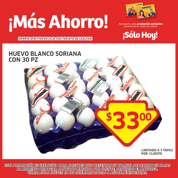 Soriana: cartera de huevo $33