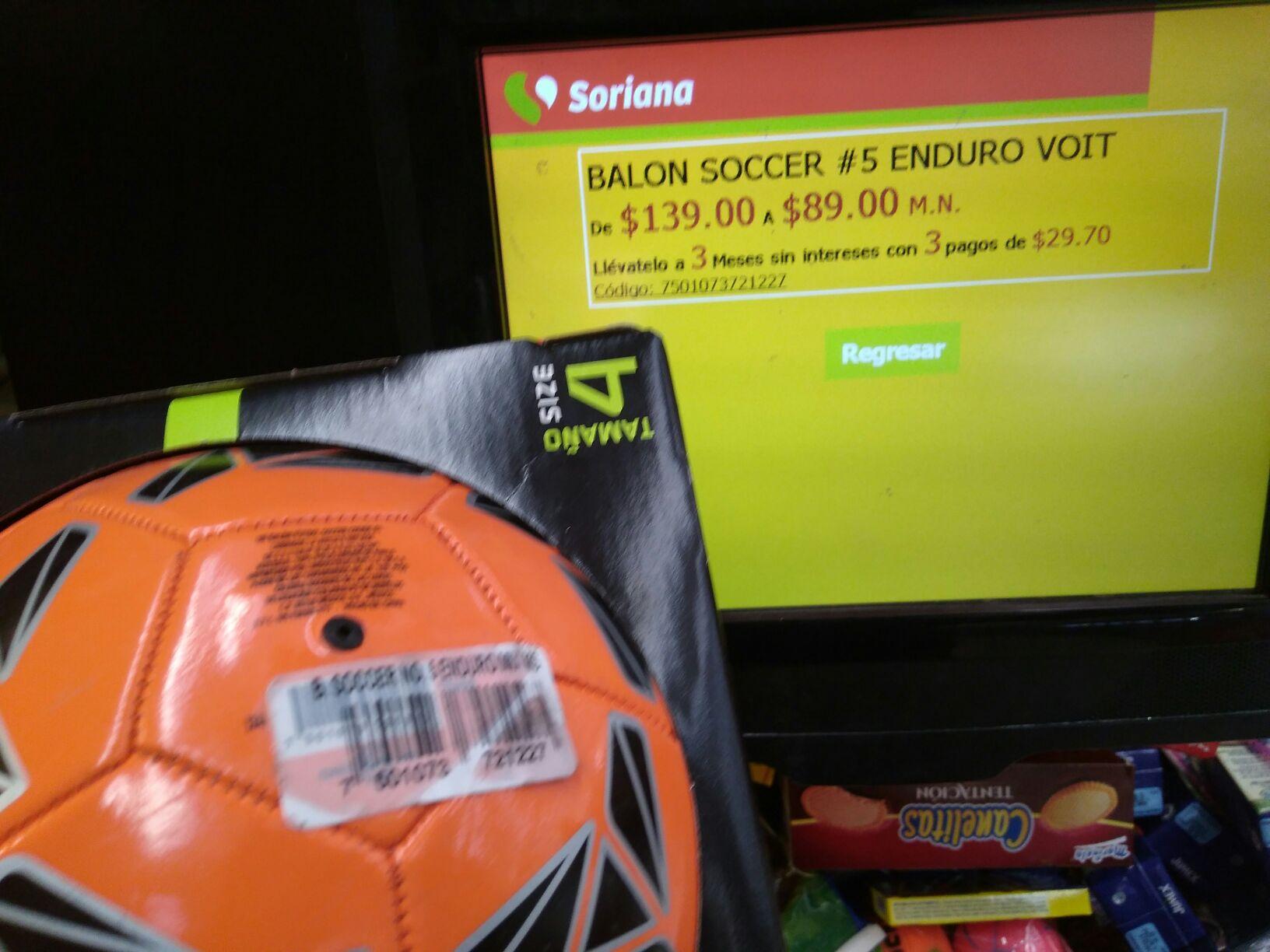 SORIANA: Balón Voit #4