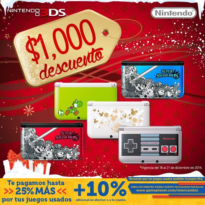 Gameplanet Nintendo 3ds con $1000 de descuento solo en tienda