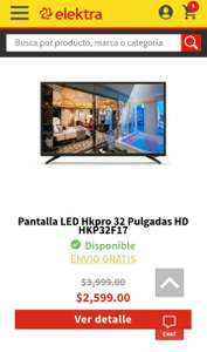 """Elektra: Pantalla HKPRO 32"""" LED y más"""