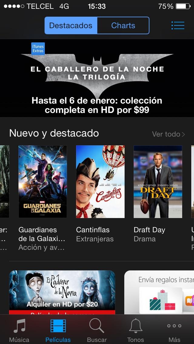 iTunes: trilogías Batman, Qué pasó ayer o Señor de los Anillos $99