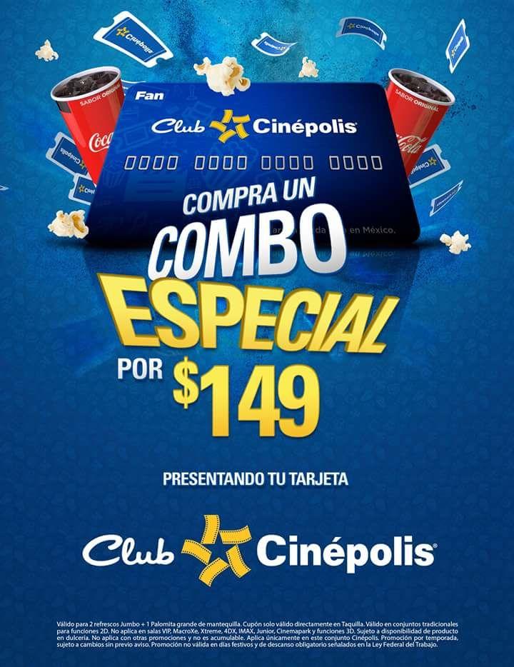 Cinepolis: 2 Entradas + Combo Cuates
