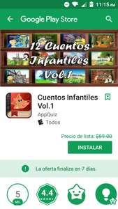 Google Play: Cuentos Infantiles Vol.1
