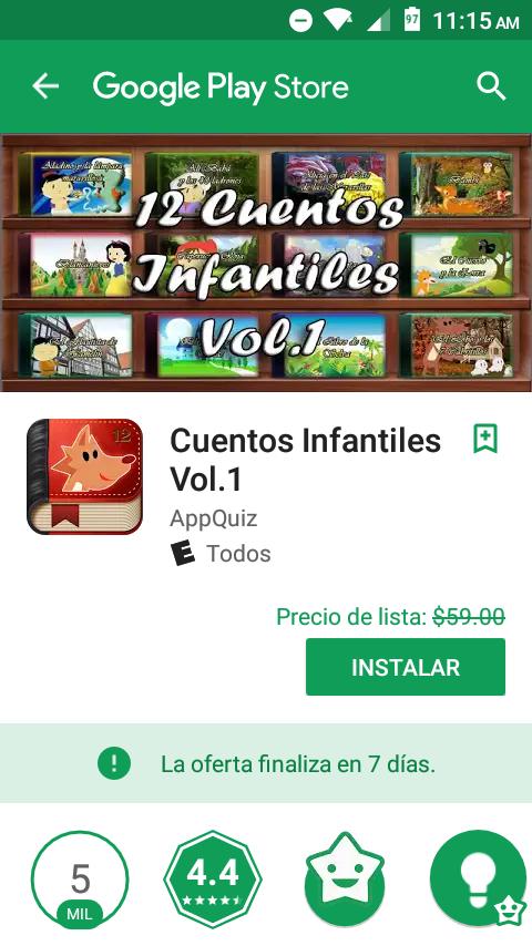 Google Play: Cuentos Infantiles Vol.1