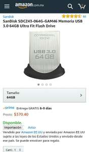 Amazon: SanDisk Ultra Fit USB 3.0 64GB
