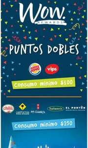 Wow rewards: puntos dobles del 23 al 29 de Octubre