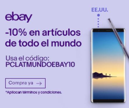 ebay: cupón de 10% de descuento en toda la tienda