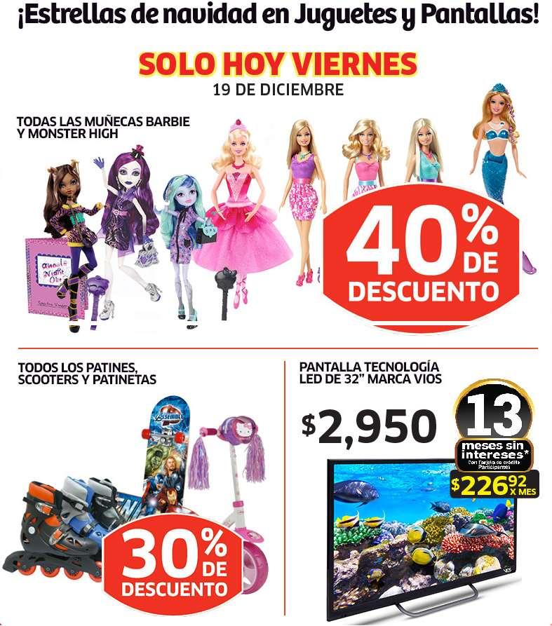Soriana: 40% de descuento en Monster High y Barbie, 30% en patines y más
