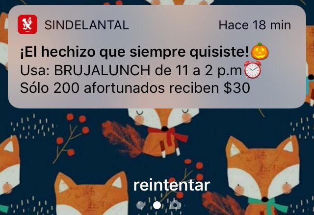 Sin Delantal: 30 pesos de descuento. para deayuno del 11 a 14 hrs