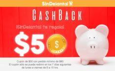 Sin Delantal: Cupon $50 Cashback por cada 2 pedidos