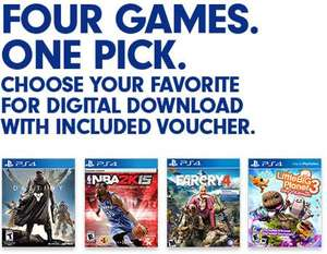 GameDealDaily: Far Cry 4, Destiny, NBA 2k15, or Little Big Planet 3 $29.49 dólares