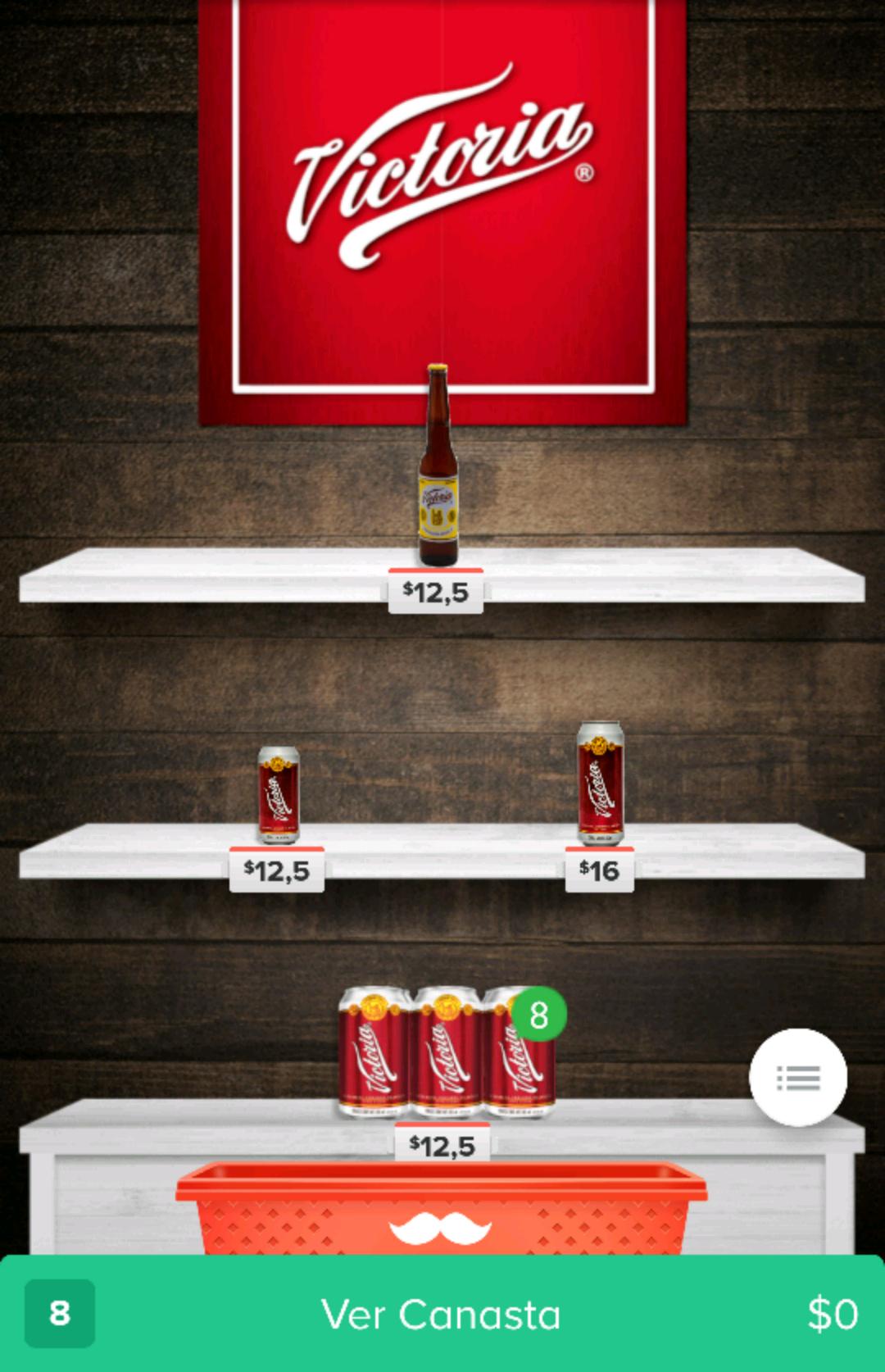 Rappi: 6pack de cerveza victoria y corona light 12.5 promonovela