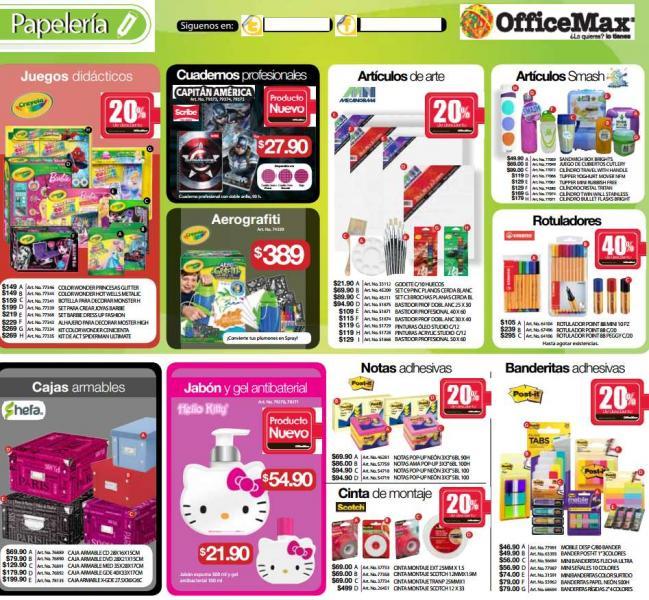 Folleto de ofertas en OfficeMax hasta el 4 de mayo