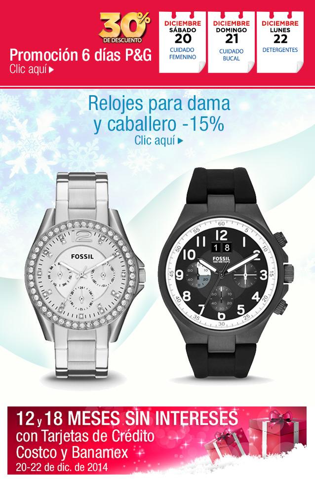 Costco: descuento en productos P&G y en relojes