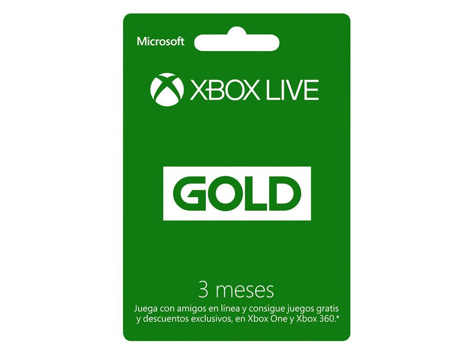 Amazon: Membresía 3 meses Xbox live gold