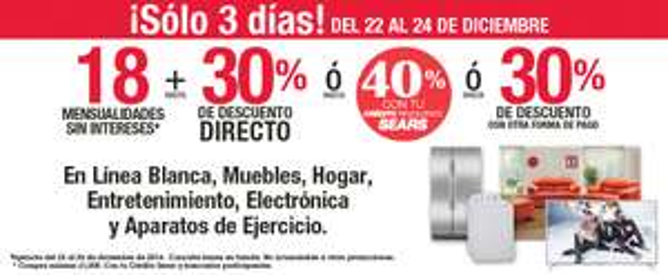 Sears: venta de sólo 3 dias