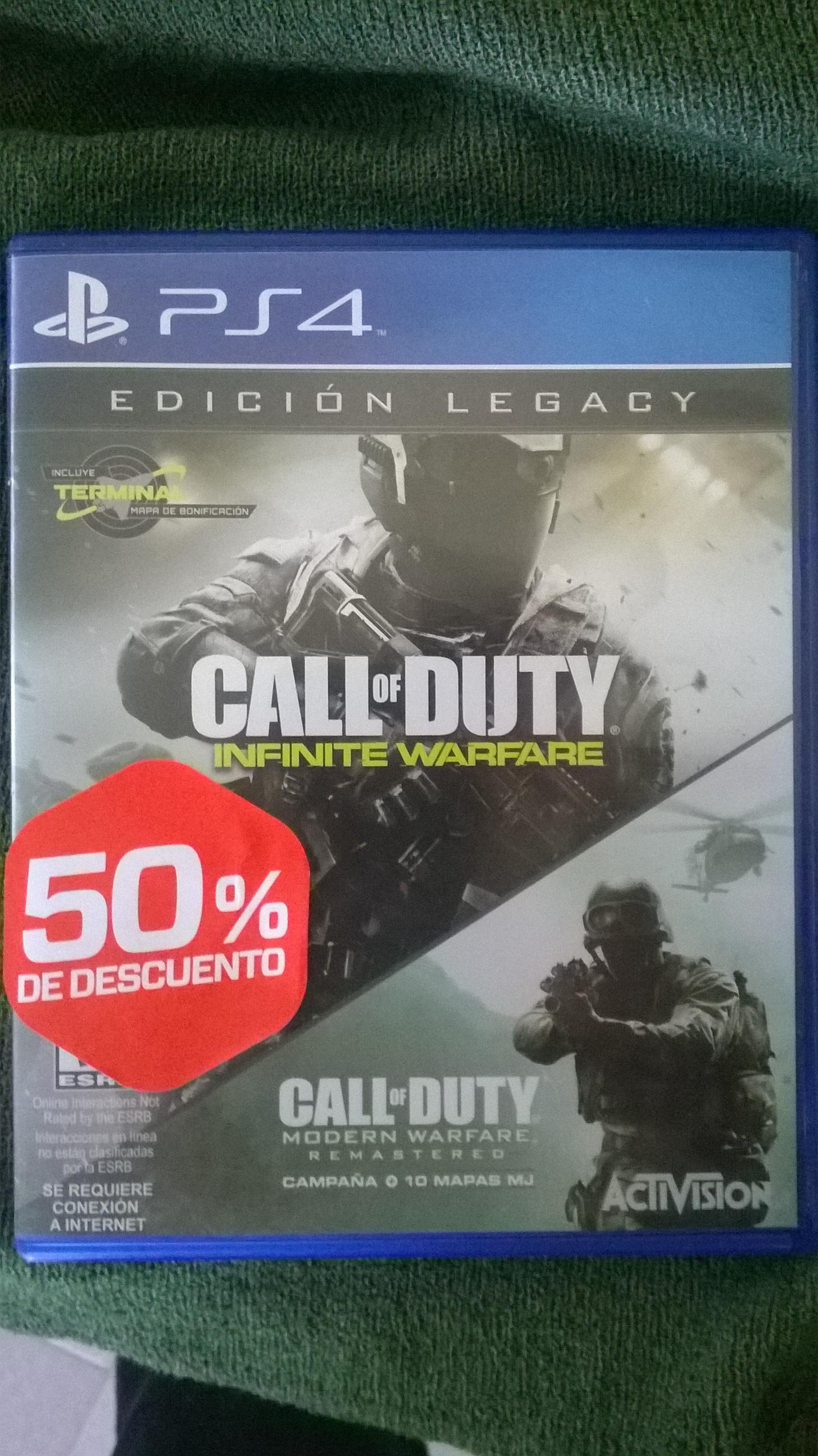 Gamers: Call of duty- infinite warfare para PS4 $190 seminuevo