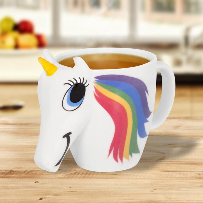 GearBest Taza de unicornio que cambia de color