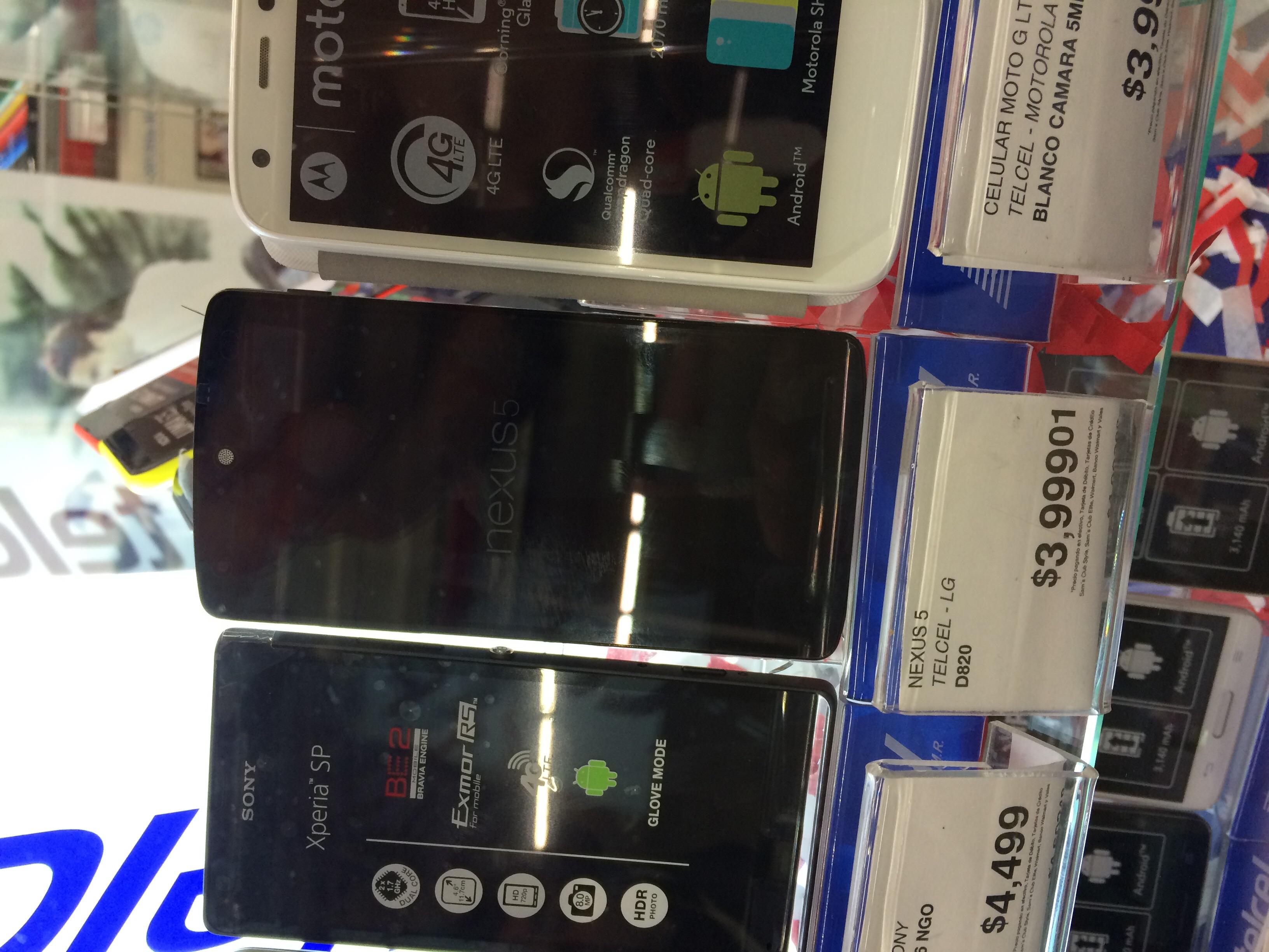 Sam's Club: Nexus 5  Nuevo Telcel $3,999 mañana $3,199