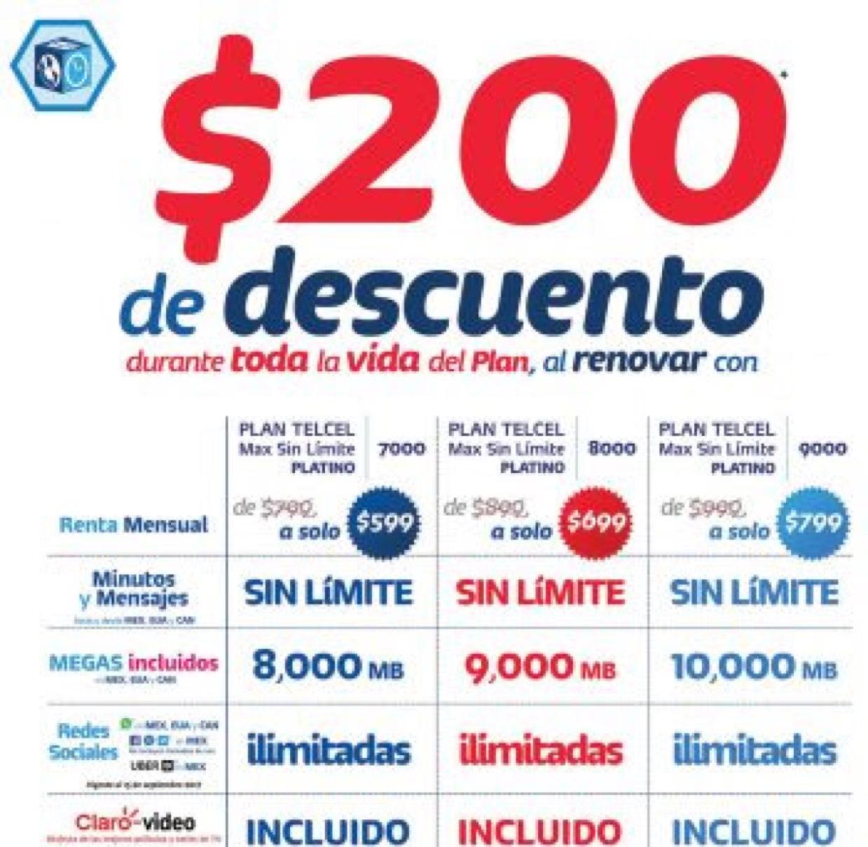 Plan max sin límite platino Telcel