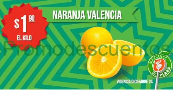 Miércoles de Plaza en La Comer diciembre 24: naranja $1.90 el kilo y más